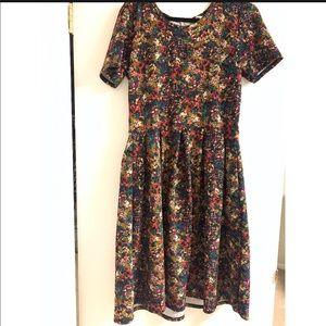 """XL Lularoe Floral """"fall"""" Amelia dress"""